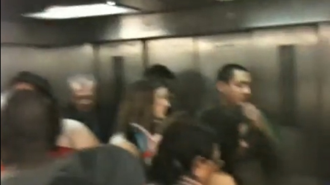 Video Shows Riders Trapped in Subway Elevator