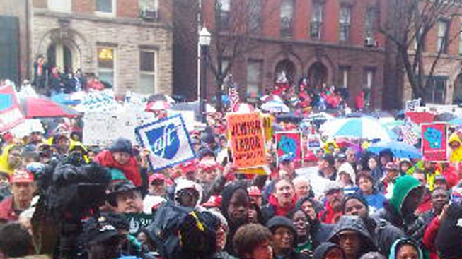 NJ Unions Rally for Wisconsin Workers
