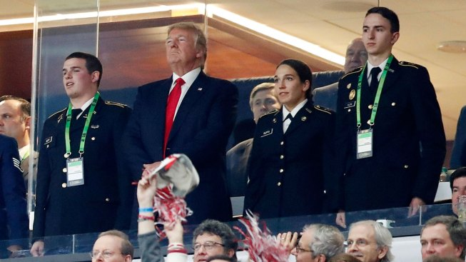 Trump Takes Field at College Football Championship Game