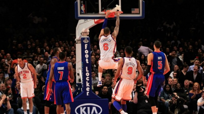 Knicks Hold a Garden Party at Pistons Expense