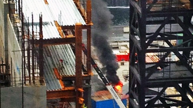 FDNY Responds to Fire at World Trade Center Site