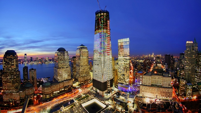 Holiday Lights at the New World Trade Center