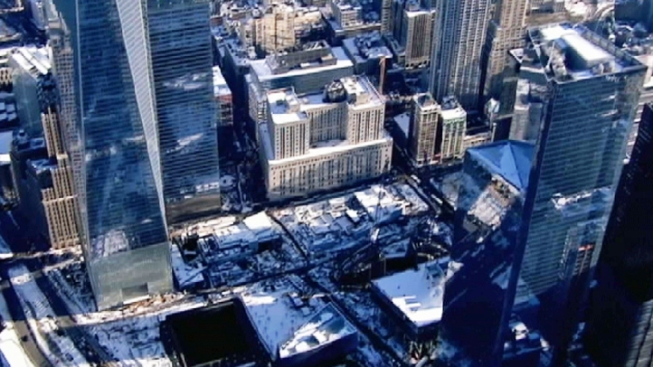Streets Closed After Ice Falls From World Trade Center