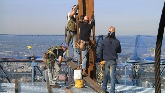Hard Hats And Acrobats At 1 World Trade Nbc New York