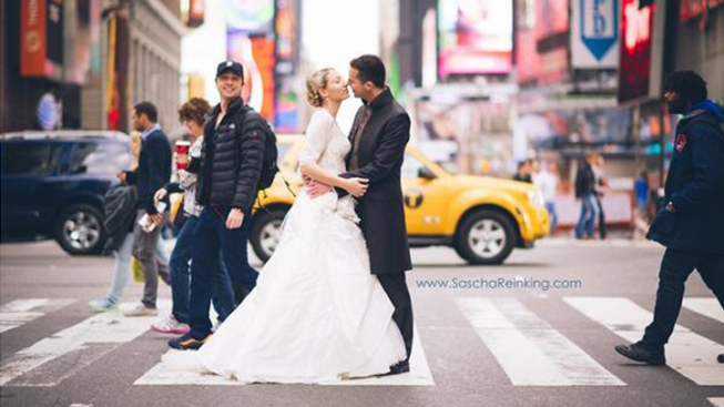 Zach Braff Photobombs Wedding Shoot in Times Square
