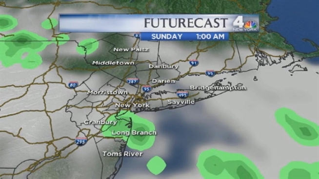 Raphael Miranda's late morning forecast for Saturday, June 9, including weather predictions for the Belmont Stakes.