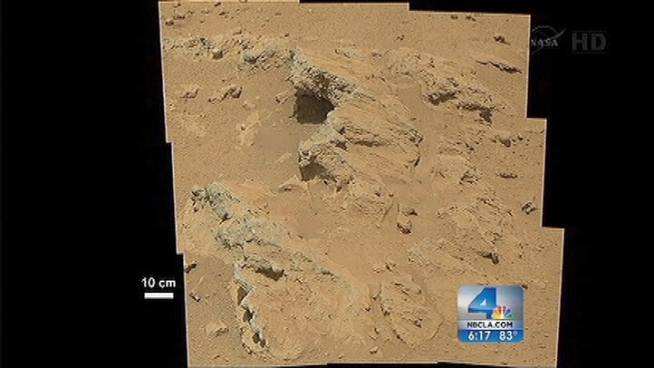 NASA's Curiosity rover mission has found evidence a stream once ran vigorously across the area on Mars where the rover is driving, NASA scientists said on Thursday. Whit Johnson reports for the NBC4 News at 5 p.m. on Sept. 27, 2012.
