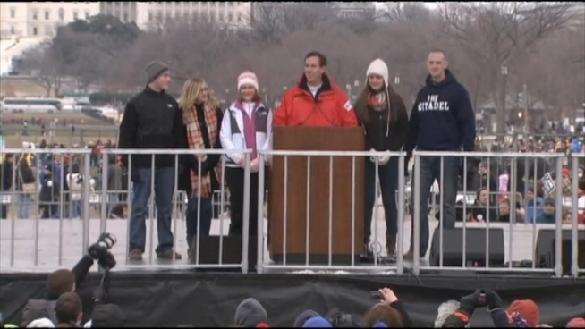 Thousands of anti-abortion advocates rally in Washington in support of overturning Roe v. Wade. The annual March for Life coincides with the 40th anniversary of the Supreme Court decision legalizing abortion. News4's Derrick Ward talked to some of the activists on both sides of the issue.
