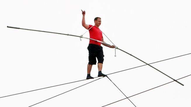 Daredevil: Sand Made NJ Tightrope Walk Tricky