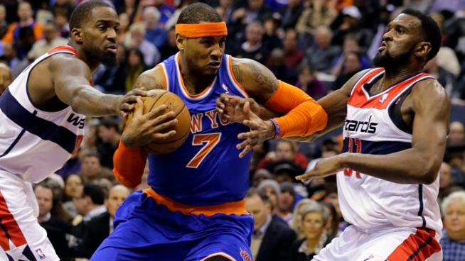 Anthony's 30 Help Knicks Beat Wizards 96-88
