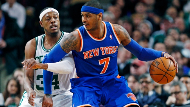 Anthony's 28 Points Lead Knicks Over Celts, 89-86