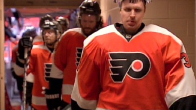After suffering a series-ending loss to the Devils, Flyers players speak on the disappointing end to their season.