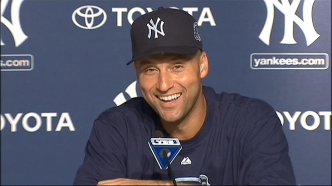 Derek Jeter's postgame press conference, after the Yankee Captain became the 28th player in Major League Baseball history to reach the 3,000-hit milestone.