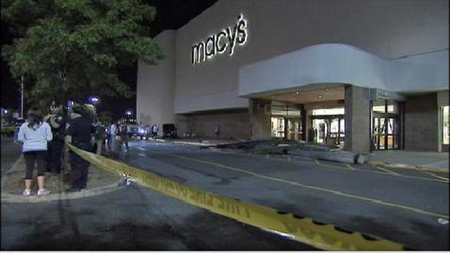 Car Slams into Macy's on Staten Island