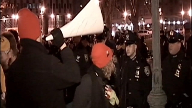 Occupy Wall Street protesters crashed the set of