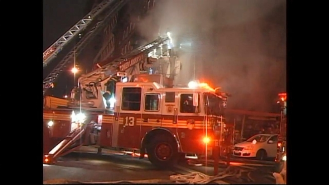 A fire in an Upper East Side apartment building Saturday night injured firefighters and one resident, officials said.