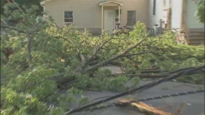 Saturday's vicious storm took down trees across the tri-state area. For residents in one New Jersey community, it could be days before power is restored. Jonathan Vigliotti reports.