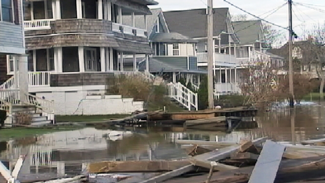 A pumping operation is underway in Belmar, N.J., smiliar to what was used in New Orleans after Katrina. Meanwhile, the Belmar mayor explains the recovery process and says it will take some time but he's confident the beach will be open with a boardwalk by next Memorial Day Weekend. Brian Thompson reports.