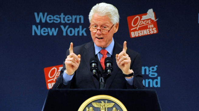 Ex-President Clinton Talks Job Strategy in NY