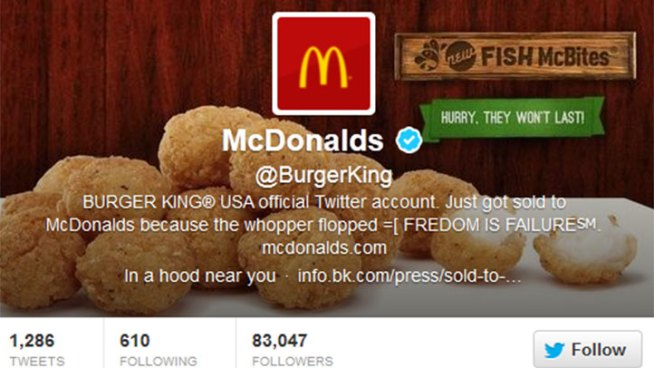 Burger King's Twitter Account Hacked