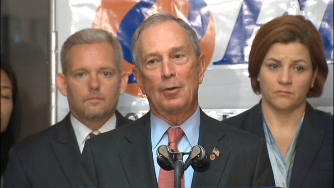 At an unrelated news conference Thursday, Mayor Bloomberg defended President Barack Obama's decision to take a vacation in Martha's Vineyard.