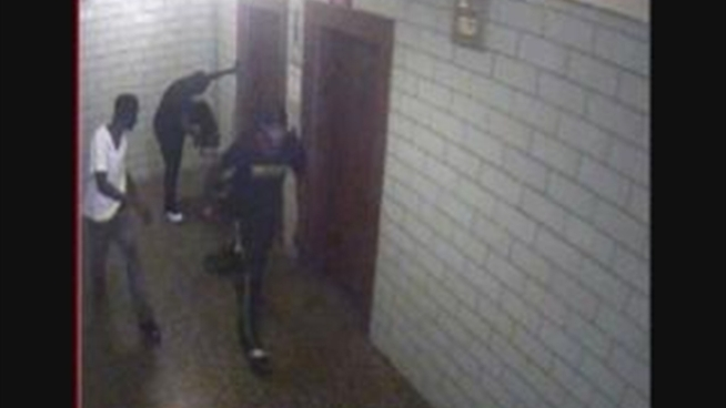 Police are searching for three suspects in the beating of a Bronx teenager who was waiting for the elevator in his apartment building. The suspects took the boy's sunglasses and sneakers before running away. Anyone with information is asked to contact NYPD Crime Stoppers at 800-577-TIPS or at nypdcrimestoppers.com.