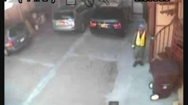 Police say the robbers seen in this video threw a 10-month-old baby to the ground while they robbed a woman in University Heights, the Bronx. Anyone with information is asked to contact Crime Stoppers at 800-577-TIPS.