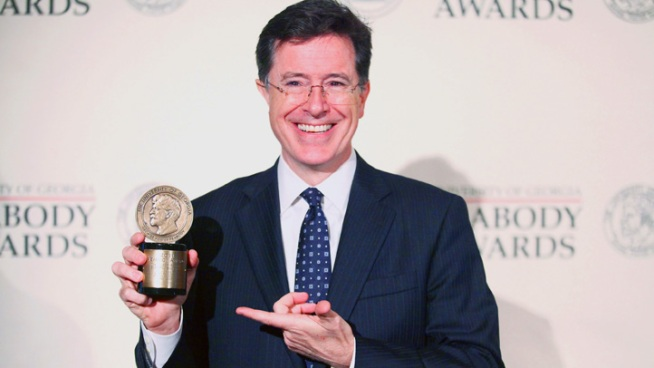 Colbert Jabs Romney for Defending Obama's Business Sentiments
