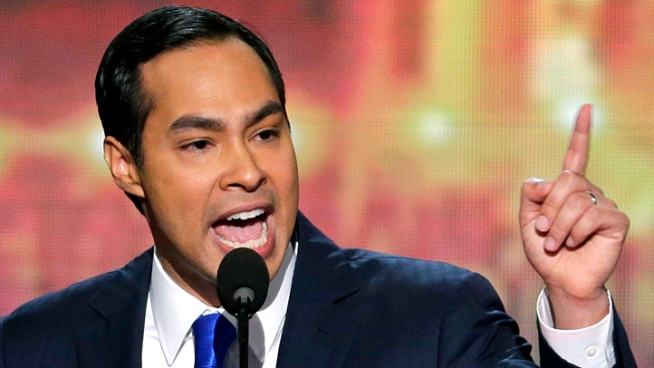 San Antonio Mayor Julian Castro addressed the Democratic National Convention in Charlotte, N.C., on Sept. 4.