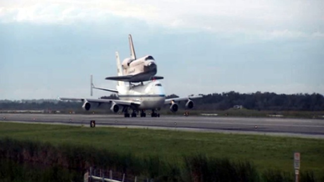 Watch Endeavour's final flight over Kennedy Space Center and the Florida Space Coast. Sept. 19, 2012