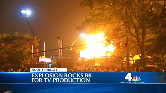 If you heard a loud explosion Thursday night, no need to be alarmed -- it was just some Hollywood magic. A staged explosion on the set of