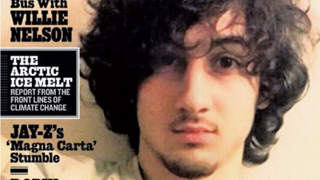 Accused Boston Marathon bomber Dzhokhar Tsarnaev is featured on next month's cover of Rolling Stone.  Critics say the suspect is