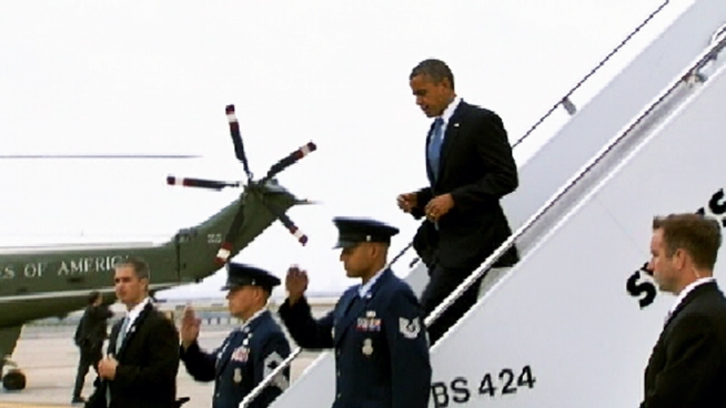 President Obama touches down in New York City Tuesday, Sept. 18 again for another series of campaigning and fundraising.