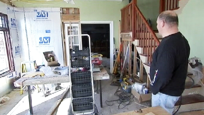 Three months after Sandy, thousands of Long Island families still can't start rebuilding their homes because the flood insurance they paid for still hasn't reimbursed them for their losses. Greg Cergol reports.