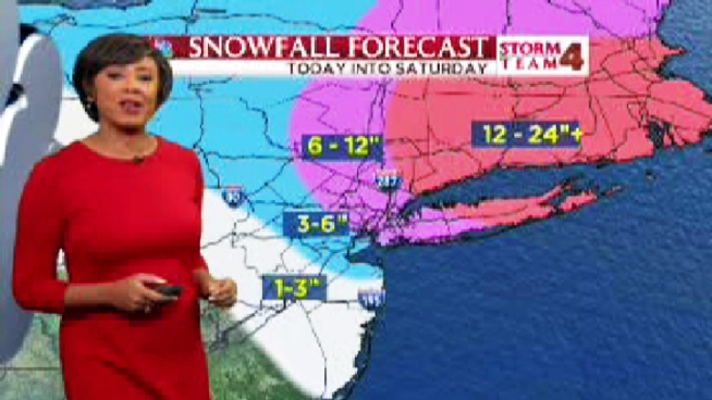 Janice Huff with your overnight forecast into Saturday morning, with snow totals so far and the weather ahead.