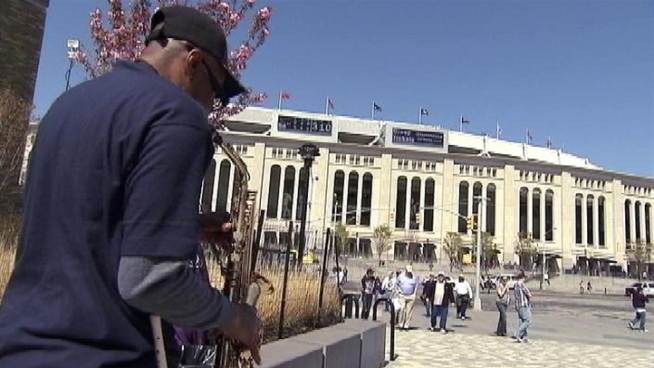 On the day of the Yankees home opener, more than 49,000 fans packed the stadium. The skies were clear. The No. 4 subway was crowded.  But the garage was nearly empty. Chris Glorioso reports.