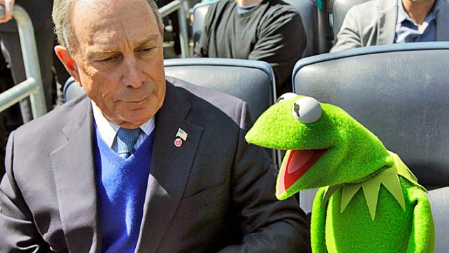 Mayor Bloomberg named the Muppets the official family ambassadors to New York City during a press conference on Friday.
