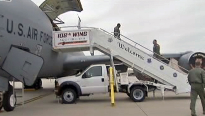 New Jersey Air Guard Members Return from Month-Long Deployment