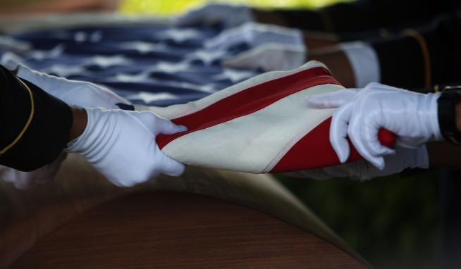 Mass Burial For Veterans Held On LI