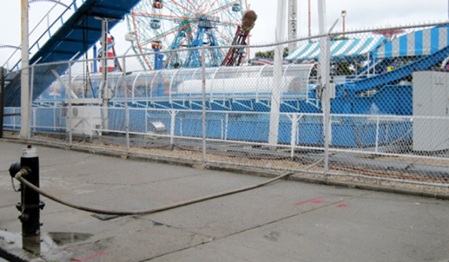 Is a Coney Island water ride creating a risk for the surrounding neighborhood?  As News 4's Tracie Strahan shows us, it appears operators were taking the ride's most crucial ingredient from the city without permission.