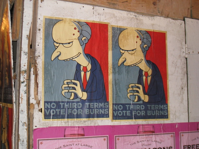 Excellent! Mr. Burns Scores the Most Write-In Votes
