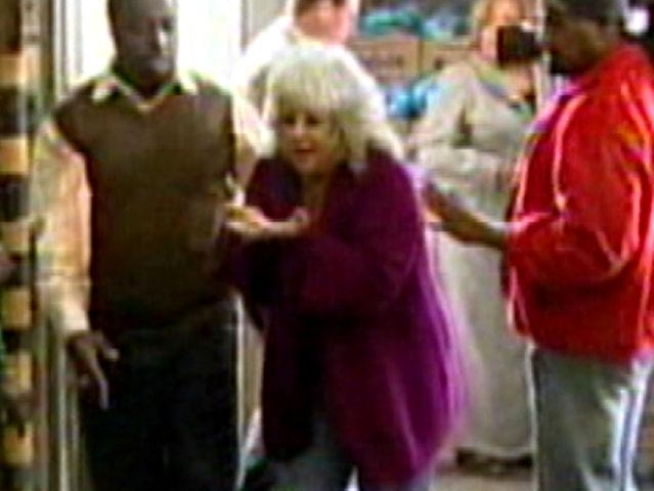 Celebrity chef Paula Deen got a serving of ham she wasn't counting on during a charity event in Atlanta Monday.