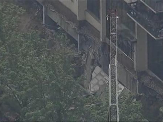 Search-and-rescue teams raced to an apartment building in <a title=