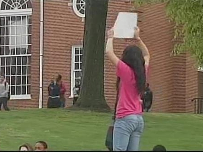 Students Walk Out of School in Mount Holly and Newark, New Jersey.