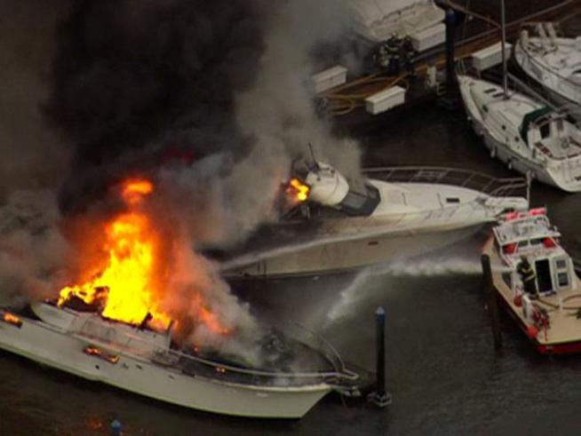 Smoke Visible For Miles After Boat Catches Fire Nbc New York