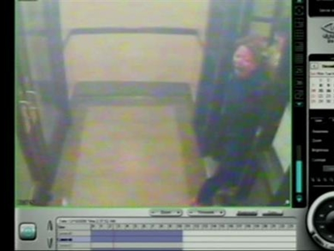 In surveillance video played at State Sen. <a title=