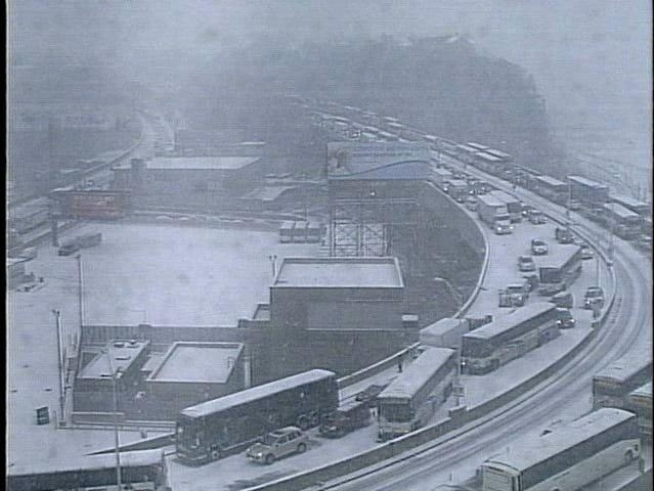 Snowy Conditions Snarl Traffic By Lincoln Tunnel Nbc New