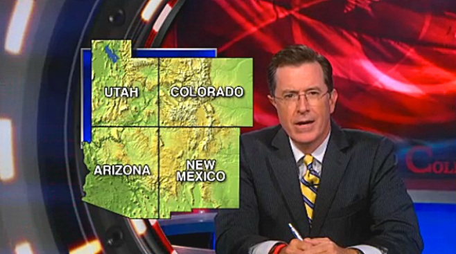 Colbert Mocks Romney's Olympic Blunder, Gives Cameron a Geography Lesson