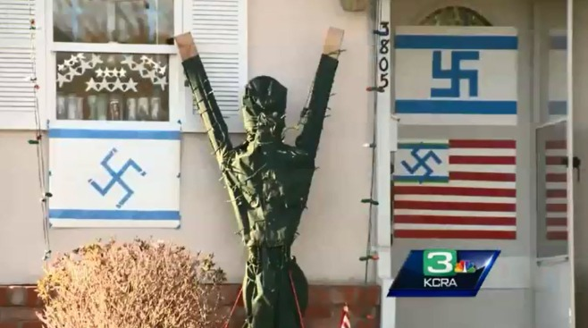 """Repugnant"": Neighbors, ADL Want Yard's Swastika Display Removed"