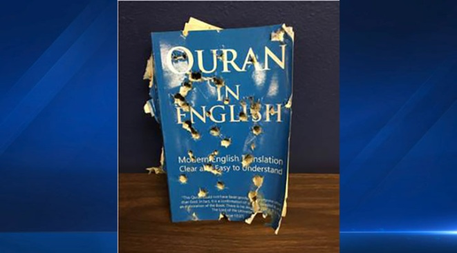 Bullet-Riddled Quran Left Outside Islamic Store in California